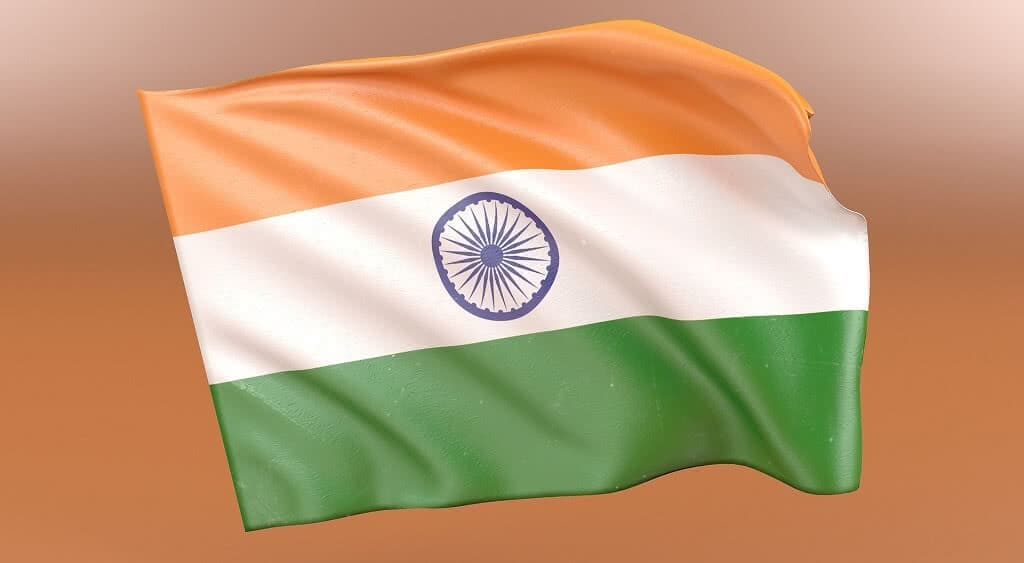 flag of India on orange background