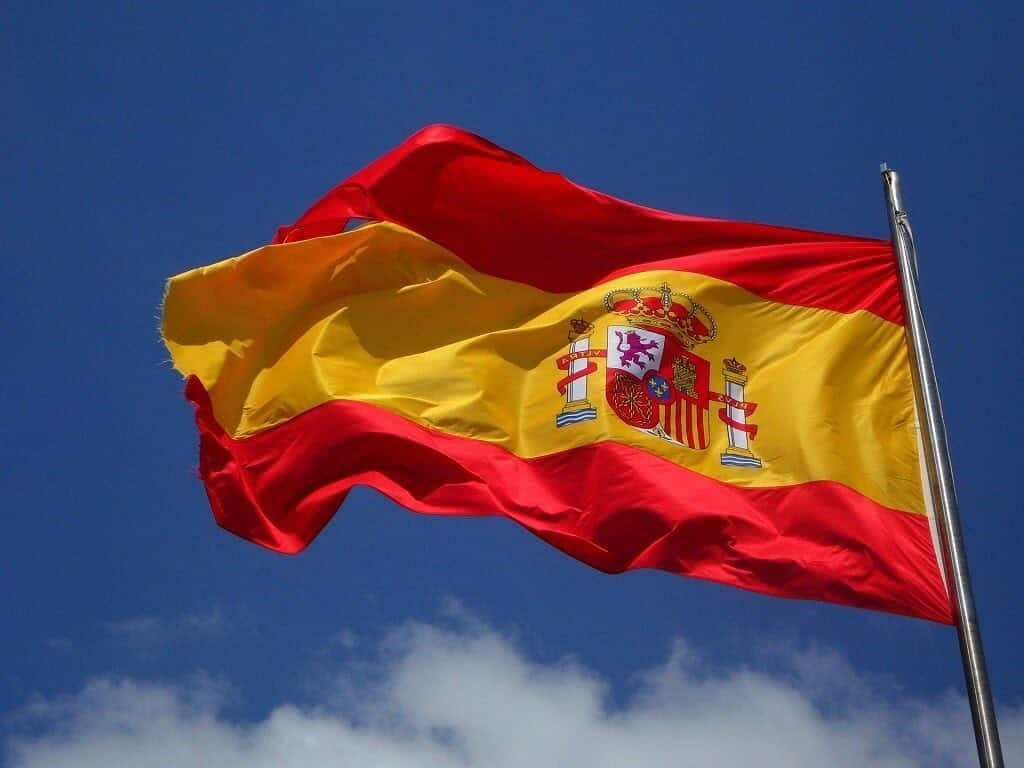 spanish flag on a flagpole